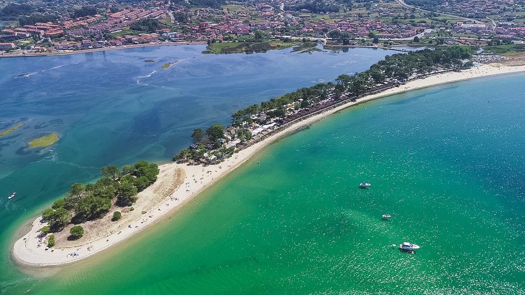Camping Bayona Playa. Playa Ladeira. Bayona. Pontevedra Image